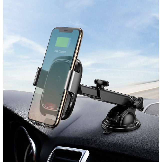 Baseus 2 in 1 Car Phone Holder and Wireless Car Charger with an Smart Automatic Locking.