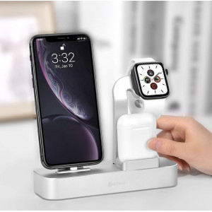 COTEetCI 3 In 1 for iPhone& Apple Watch&apple AirPods pro - gry