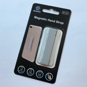 Magnetic hand strap silver