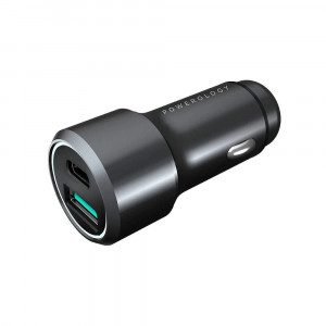 Powerology Aluminum USB and PD Car Charger 36W